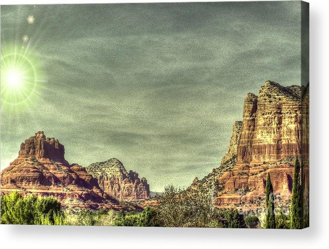 Sandstone Acrylic Print featuring the photograph High Country by Dan Stone