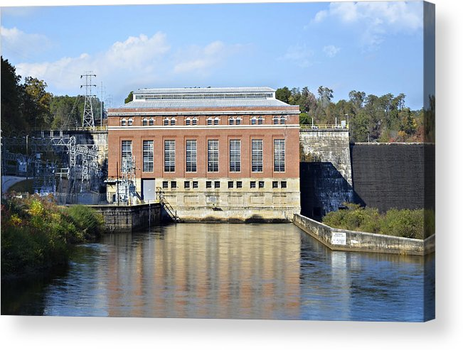 Acrylic Print featuring the photograph Hydroelectric Power by Susan Leggett
