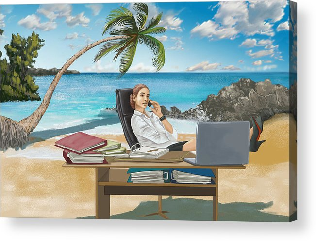 Beach Acrylic Print featuring the photograph Illustration Of Business Trip by Fanatic Studio / Science Photo Library