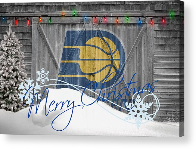Pacers Acrylic Print featuring the photograph Indiana Pacers by Joe Hamilton