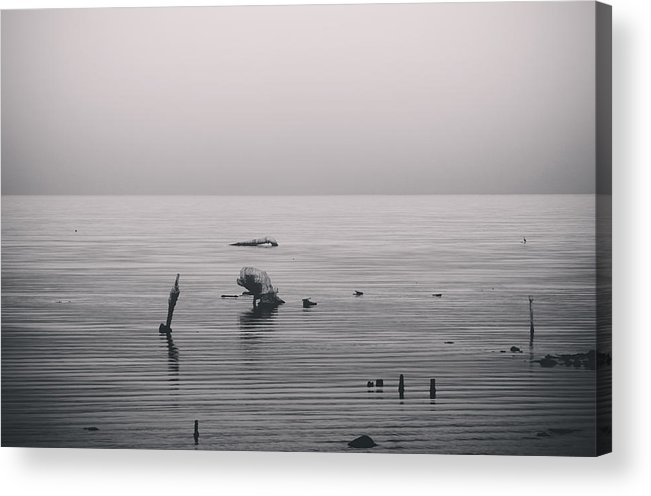 Salton Sea Acrylic Print featuring the photograph It Was Lonely There by Laurie Search