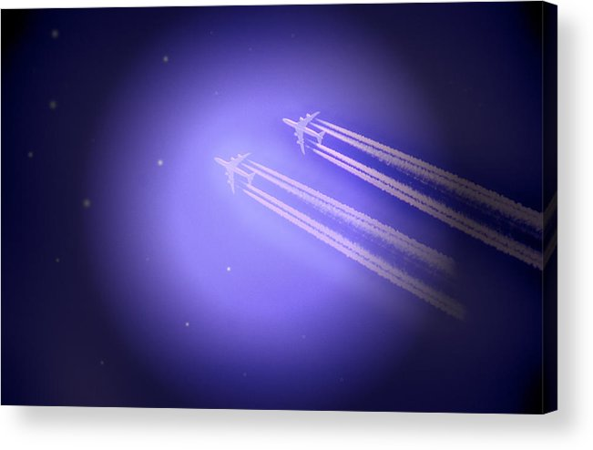 Jet Acrylic Print featuring the photograph Jet Race by Kelly Reber