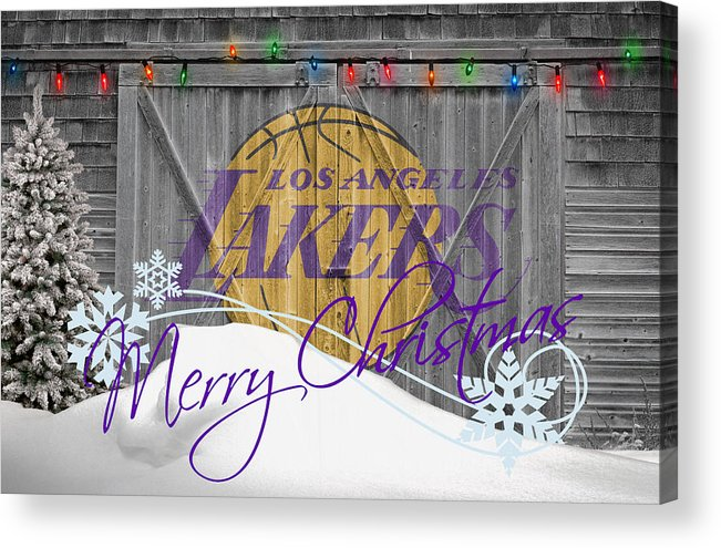 Lakers Acrylic Print featuring the photograph Los Angeles Lakers by Joe Hamilton