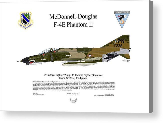 Mcdonnell Douglas Acrylic Print featuring the digital art Mcdonnell Douglas F-4e Phantom II by Arthur Eggers