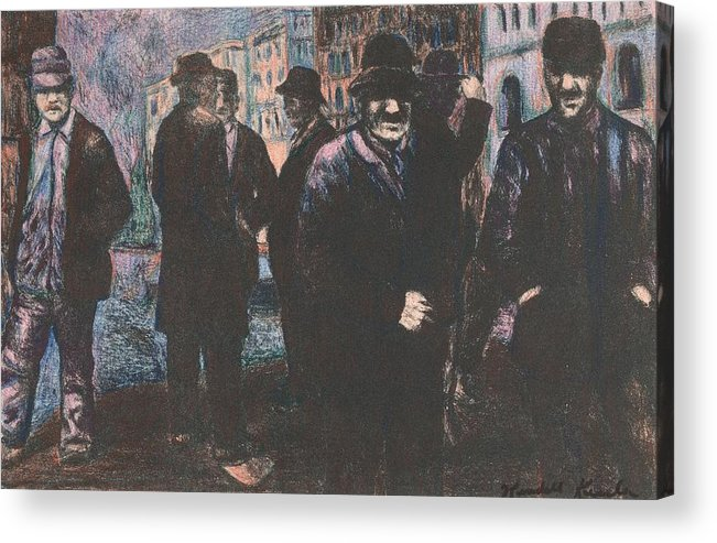 Men Acrylic Print featuring the drawing Men by Kendall Kessler