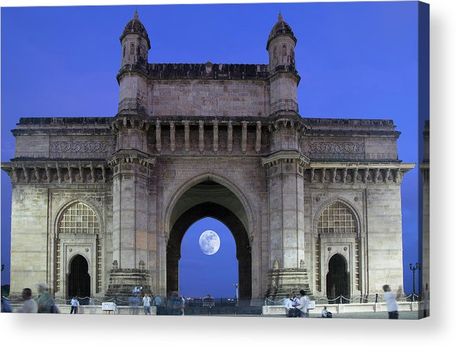 Arch Acrylic Print featuring the photograph Monument Entrance by Grant Faint