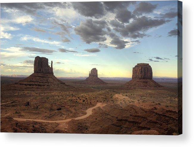 Monument Valley Acrylic Print featuring the photograph Monument Valley Sunset by Saija Lehtonen