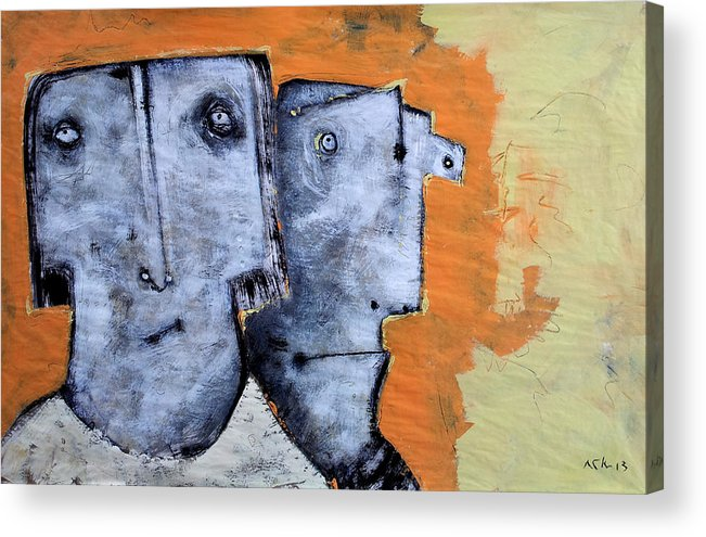 Expressionist Acrylic Print featuring the painting Mortalis No. 17 by Mark M Mellon