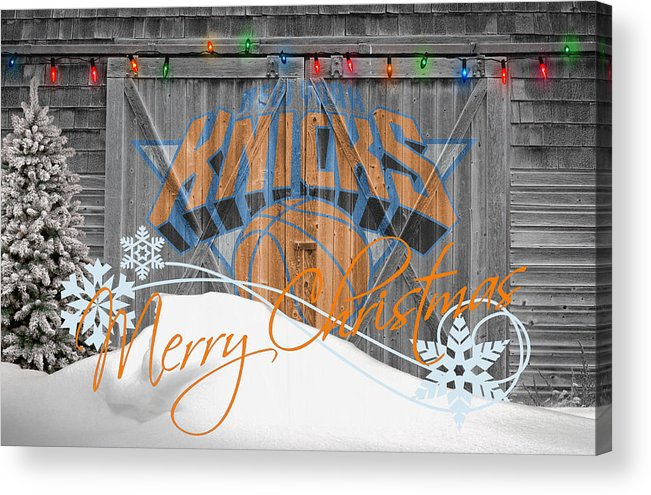 Knicks Acrylic Print featuring the photograph New York Knicks by Joe Hamilton