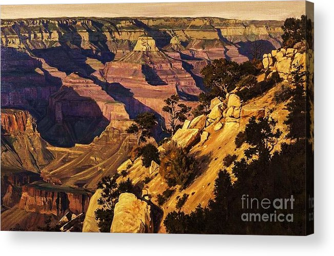 Observation Acrylic Print featuring the painting Observation Point by Bob Myer