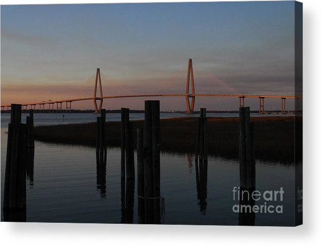 Ravenel From The Dock Acrylic Print featuring the photograph Ravenel From The Dock by Melody Jones