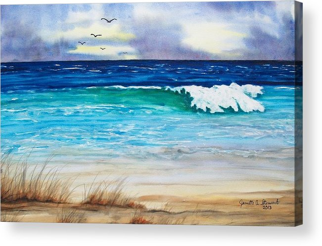 Seascape Acrylic Print featuring the painting Relax by Jeanette Stewart