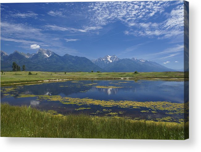 Eco Tourism Acrylic Print featuring the photograph Rocky Mountain Lake by Brian Kamprath