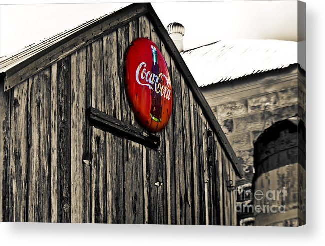 Coke Acrylic Print featuring the photograph Rustic by Scott Pellegrin