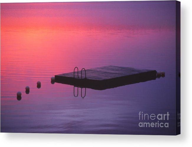 Pink Acrylic Print featuring the photograph Serenity by Eva Kato
