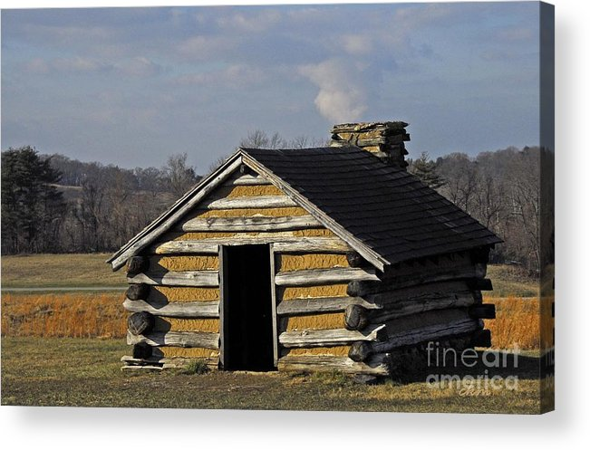 Hut Acrylic Print featuring the photograph Soldiers' Barracks At Valley Forge by Cindy Manero