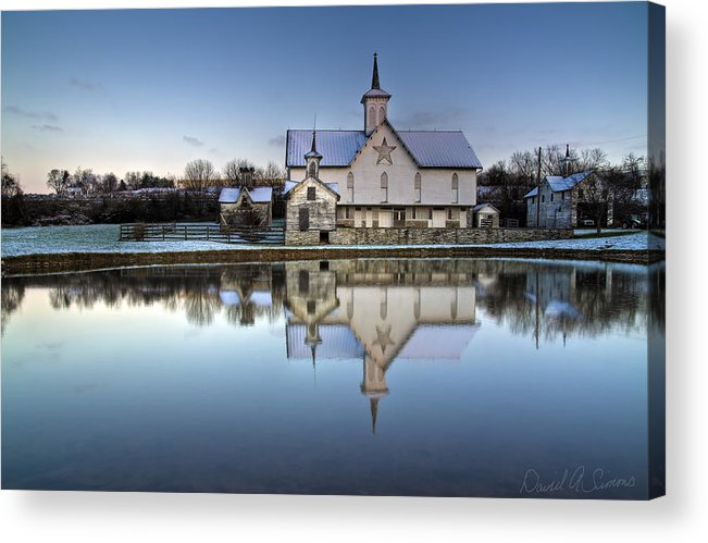 Star Barn Acrylic Print featuring the photograph Star Barn by David Simons