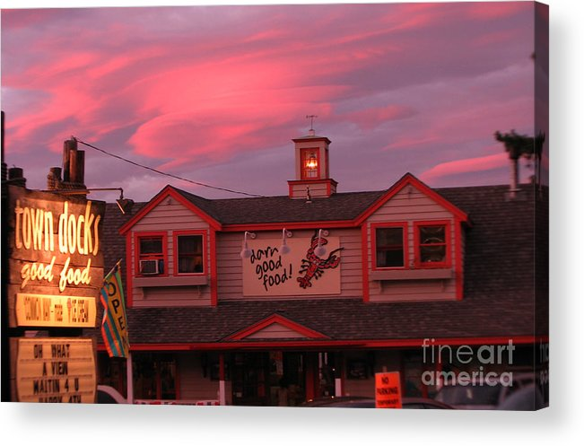 Meredith Nh Acrylic Print featuring the photograph Sunset And Good Food by Michael Mooney
