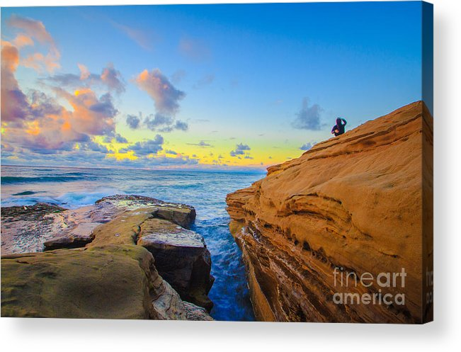 San Diego Acrylic Print featuring the photograph Sunset Cliffs Ave by Roman Gomez