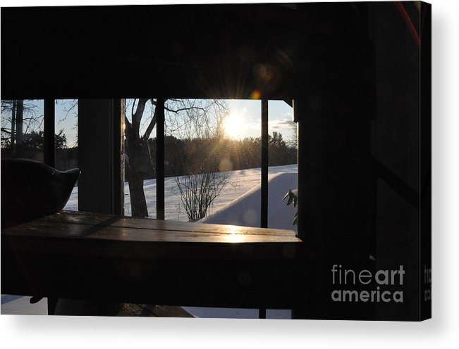 Winter Acrylic Print featuring the photograph The Basement Window by John Black