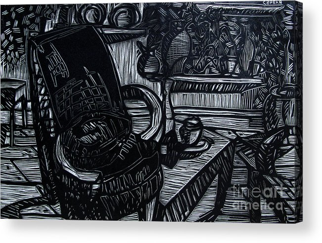 Chair Acrylic Print featuring the relief The Chair Of My Dreams by Charlie Spear