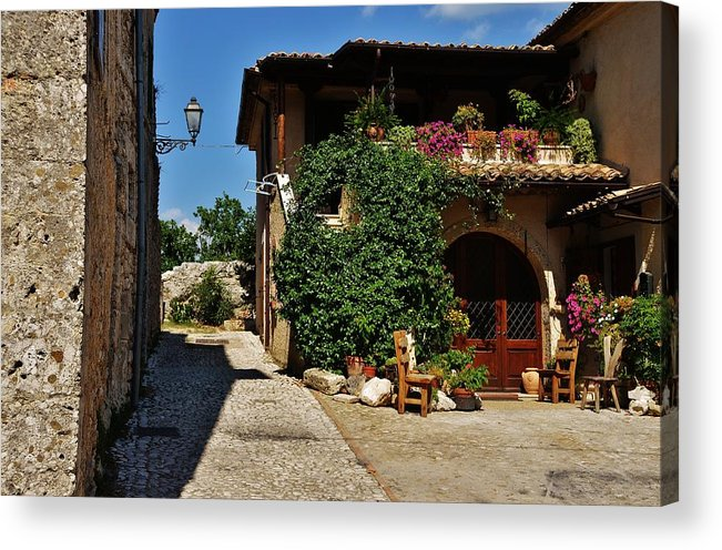 Street Acrylic Print featuring the photograph The Charming Patio by Dany Lison