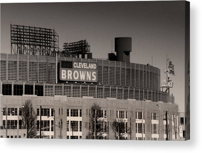 Cleveland Acrylic Print featuring the photograph The Hometeams by Kenneth Krolikowski