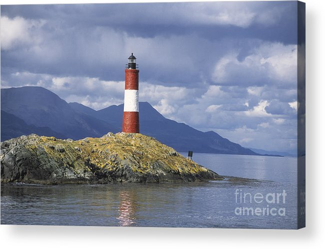 Lighthouse Acrylic Print featuring the photograph The Lighthouse At The End Of The World by James Brunker