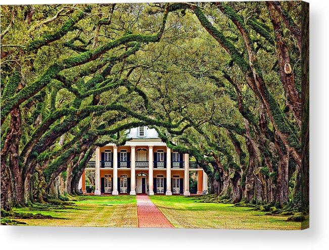 Oak Alley Plantation Acrylic Print featuring the photograph The Old South by Steve Harrington