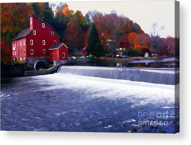 Water Acrylic Print featuring the photograph The Old Water Mill by Linda Parker