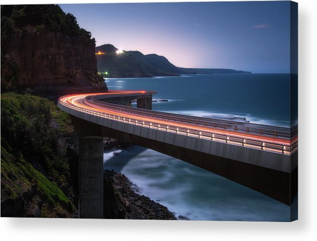 Bridge Acrylic Print featuring the photograph To The Light by Joshua Zhang