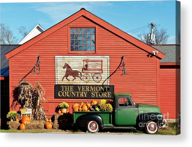 Americana Acrylic Print featuring the photograph Vermont Country Store by John Greim
