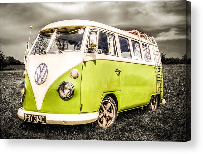 Vw Camper Van Acrylic Print featuring the photograph Vw Campervan by Ian Hufton