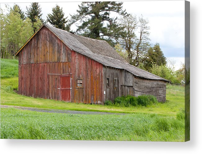 Palouse Acrylic Print featuring the photograph Weathered Barn 2 by CJ Middendorf