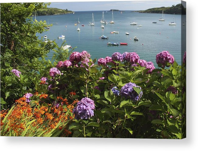 Munster Province Acrylic Print featuring the photograph Bay Beside Glandore Village In West by Trish Punch