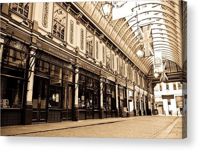 Leadenhall Acrylic Print featuring the photograph Leadenhall Market London by David Pyatt