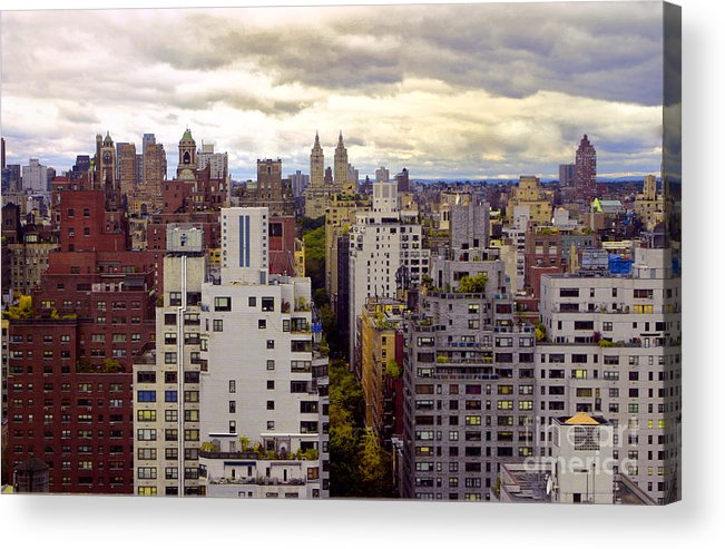 Manhattan Acrylic Print featuring the photograph A Manhattan View by Madeline Ellis