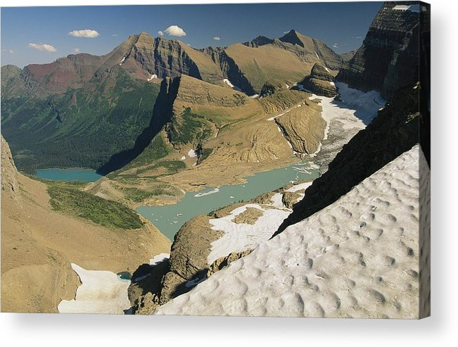 North America Acrylic Print featuring the photograph A Scenic View Of Lakes In Glacier by Michael Melford
