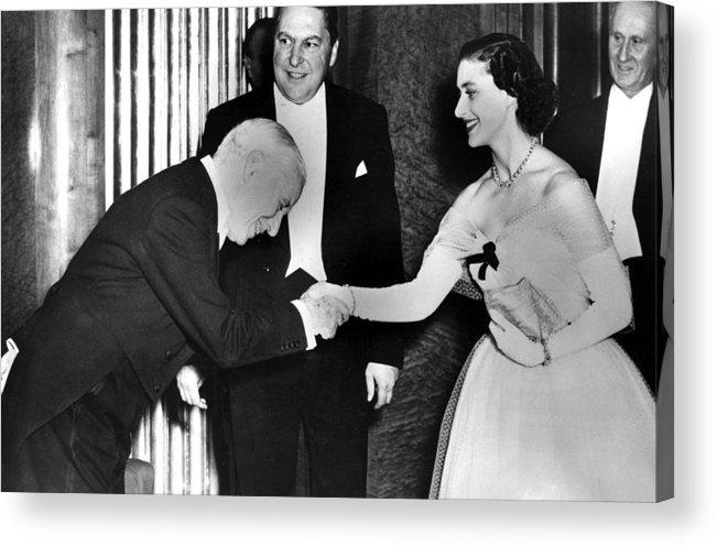 1950s Acrylic Print featuring the photograph Charlie Chaplin Meeting Princess by Everett