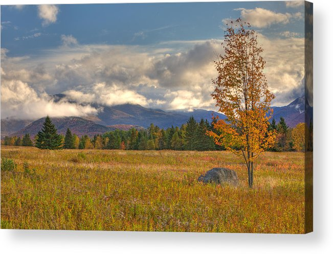 Adirondacks Acrylic Print featuring the photograph Clouds Over Algonquin Mountain by Nicholas Palmieri
