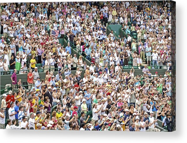 Audience Acrylic Print featuring the photograph Crowd Of People by Carlos Dominguez