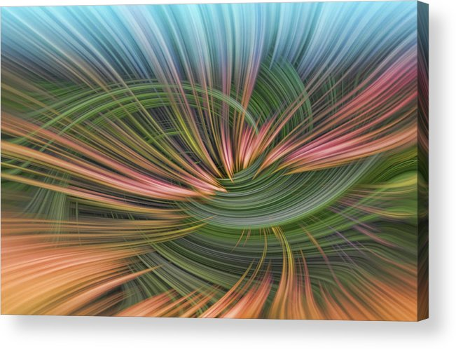 Abstract Acrylic Print featuring the digital art Dark Thoughts by Linda Phelps