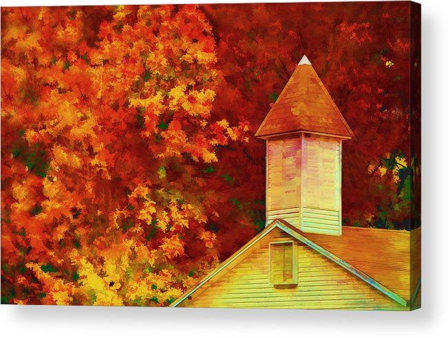 Fall Acrylic Print featuring the photograph Exaggerated Fall by Kathy Jennings