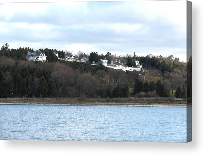Summer Residence Acrylic Print featuring the photograph Fort Mackinac And The Governor's Summer Residence by Keith Stokes