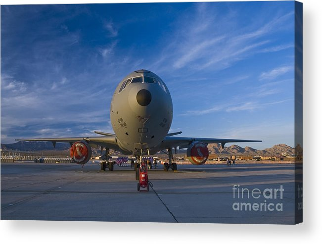 Usaf Acrylic Print featuring the photograph Kc-10 At Sunset by Tim Mulina