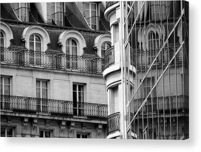 Paris Acrylic Print featuring the photograph Paris Reflections 1 by Andrew Fare