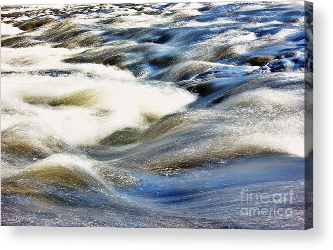 River Acrylic Print featuring the photograph River Waves by Edgars Gasperovics