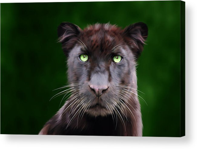Saber Acrylic Print featuring the digital art Saber by Big Cat Rescue