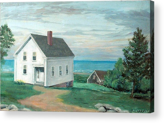 House Acrylic Print featuring the painting Scenic Overlook by Robert Harvey