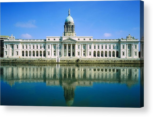 Administration Acrylic Print featuring the photograph The Custom House, River Liffey, Dublin by The Irish Image Collection
